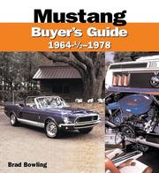 Cover of: Mustang 1964-1/2 - 1978 Buyer's Guide