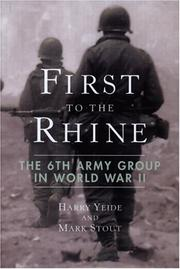 Cover of: First to the Rhine