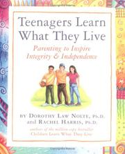 Cover of: Teenagers Learn What They Live
