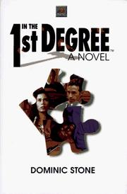 Cover of: In the 1st Degree: A Novel