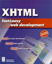 Cover of: XHTML Fast & Easy Web Development