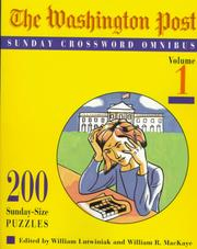 Cover of: Washington Post Sunday Crossword Omnibus, Volume 1 (Washington Post)