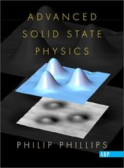 Cover of: Advanced Solid State Physics