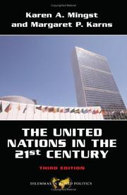 Cover of: United Nations in the Twenty-First Century (Dilemmas in World Politics)