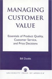 Cover of: Managing Customer Value