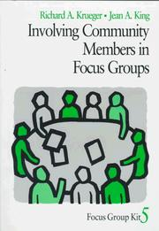 Cover of: Involving Community Members in Focus Groups (Focus Group Kit)