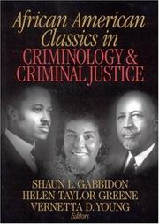 Cover of: African American classics in criminology & criminal justice