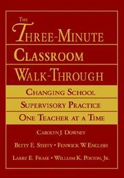 Cover of: The Three-Minute Classroom Walk-Through