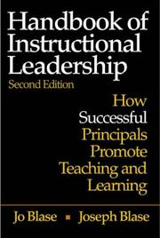 Cover of: Handbook of Instructional Leadership