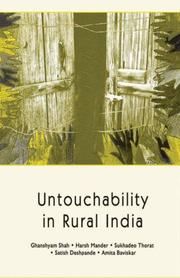 Cover of: Untouchability in Rural India