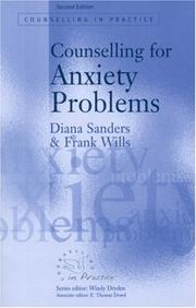 Cover of: Counselling for Anxiety Problems (Counselling in Practice series)