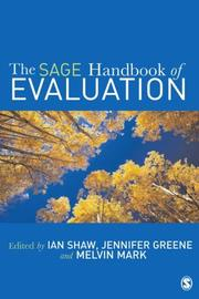 Cover of: Handbook of evaluation