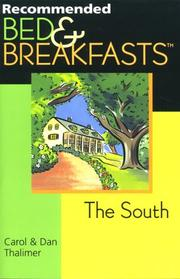 Cover of: Recommended Bed & Breakfasts The South (Recommended Bed & Breakfasts Series)