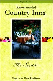 Cover of: Recommended Country Inns The South, 8th (Recommended Country Inns Series)