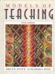 Cover of: Models of teaching