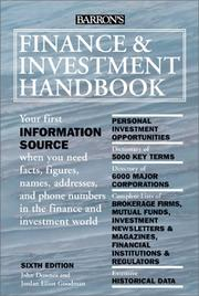 Cover of: Finance and Investment Handbook
