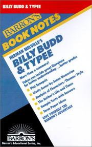 Cover of: Billy Budd and Typee