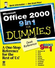 Cover of: Microsoft Office 2000 9 in 1 for Dummies Desk Reference