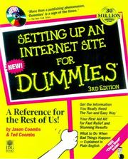 Cover of: Setting Up An Internet Site for Dummies, Third Edition