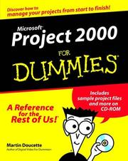 Cover of: Microsoft Project 2000 for Dummies