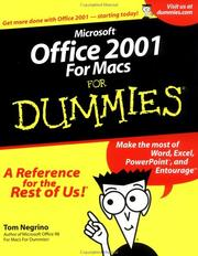 Cover of: Microsoft Office 2001 for Macs for Dummies
