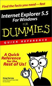 Cover of: Internet Explorer 5.5 for Windows for Dummies Quick Reference