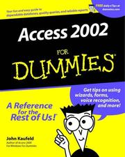 Cover of: Microsoft Access 2002 for Dummies