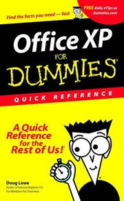 Cover of: Microsoft Office XP for Windows for Dummies Quick Reference