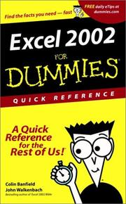 Cover of: Excel 2002 for Dummies Quick Reference
