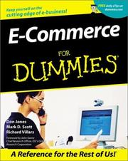 Cover of: E-Commerce for Dummies