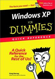 Cover of: Windows XP for Dummies Quick Reference