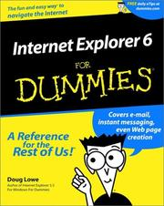 Cover of: Internet Explorer 6 for Dummies