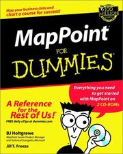 Cover of: MapPoint 2002 for Dummies (With CD-ROM)