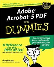Cover of: Adobe Acrobat 5 PDF for Dummies
