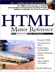Cover of: HTML Master Reference