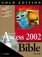 Cover of: Microsoft Access 2002 Bible Gold Edition