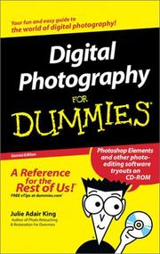 Cover of: Digital Photography for Dummies with CDROM (For Dummies (Lifestyles Paperback))