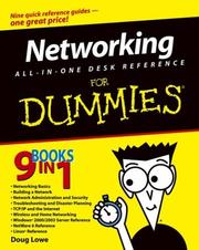 Cover of: Networking All-in-One Desk Reference for Dummies