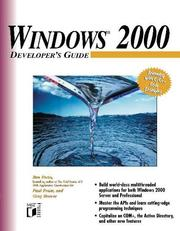 Cover of: Windows 2000 Developer's Guide (Developer's Guides (Wiley))