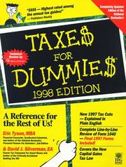 Cover of: Taxes for Dummies 1998