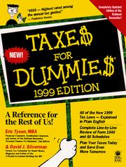 Cover of: Taxes for Dummies 1999
