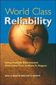 Cover of: World Class Reliability