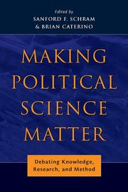 Cover of: Making Political Science Matter