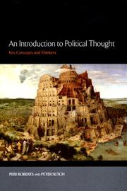 Cover of: An Introduction to Political Thought