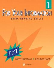 Cover of: For your information 1: basic reading skills