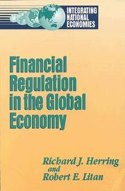 Cover of: Financial Regulation in a Global Economy (Integrating National Economies)