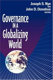 Cover of: Governance in a Globalizing World