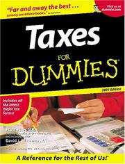 Cover of: Taxes for Dummies 2001 Edition