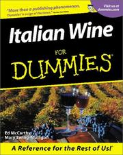 Cover of: Italian Wine for Dummies