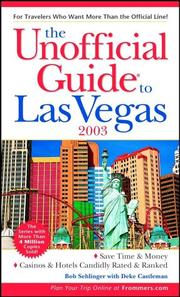 Cover of: The Unofficial Guide(r) to Las Vegas 2003